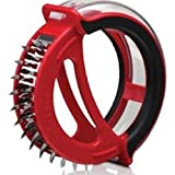 Cherry Queen Microplane Meat Tenderizer 48 Blades w Protective Cover Red - 48103