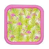 Luau Flamingo Disposable Dinnerware Party Supplies Kit Bundle - Summer Hawaiian Flamingo - Dinner Plates, Napkins, Cups, Flamingo Straws & Table Cover (Serves 14)