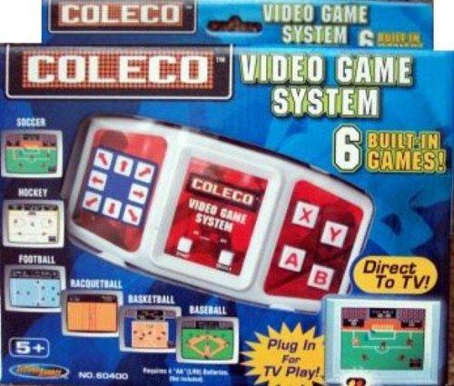 Coleco Plug-n-play Tv Video Game System Soccer, Hockey, Football, Racqetball, Basketball & Baseball - 1