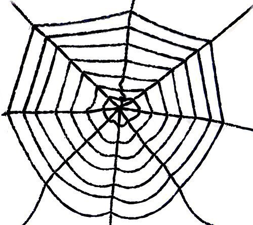 large chenille spider web halloween decor 68 wide scary