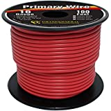 Grand General 55234 Red 100' 16-Gauge Primary Wire