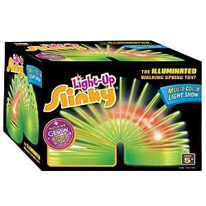 POOF-Slinky Model #128 Plastic Light-Up Original Slinky, Single Item by Slinky TOY (English Manual)