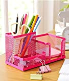 HomeCube high quality popular design desk organizer/pen holder/cell phone holder/cosmetic holder(Rose Red)