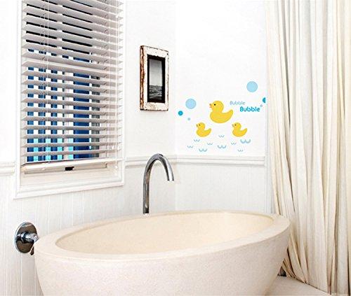 Small Yellow Duck Children Bathroom Sticker Sheets Wall