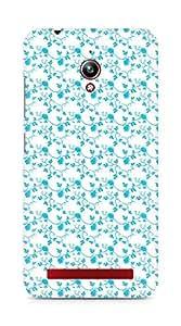 AMEZ designer printed 3d premium high quality back case cover for Asus Zenfone Go ZC500TG (blue floral roses)