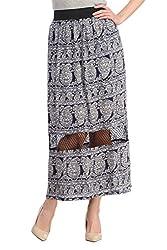 Cottinfab Women Polyester Blue Skirt (Small)