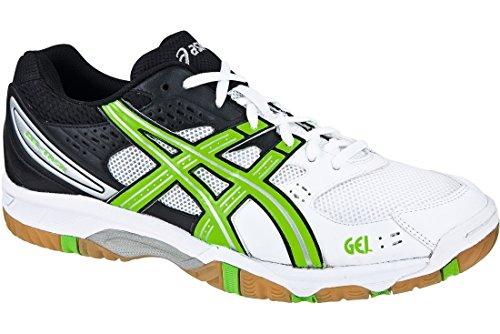 Asics  Volley Gel-task,  Sneaker Uomo, Bianco (Blanco / Verde / Negro), EU 48 (US 13)