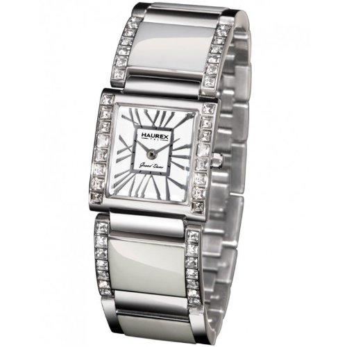 Haurex Italy XS348DW1 - Reloj de mujer de cuarzo, correa de acero inoxidable color plata