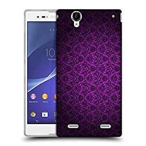 Snoogg Dark Pink Pattern Design Designer Protective Phone Back Case Cover For Sony Xperia T2 Ultra