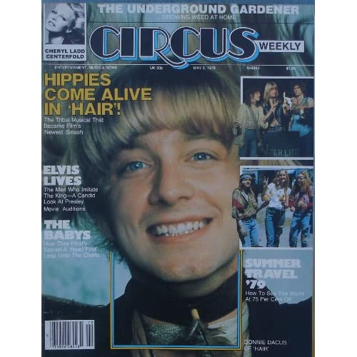 Donnie Dacus Of Hair Cover Of Circus Weekly Magazine May 8 1979