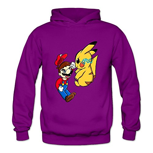 Crystal Women's Mario Vs Pikachu Long Sleeve Hoodie Sweatshirt Purple US Size XXL (Brad And Taylor Knife Sharpener compare prices)