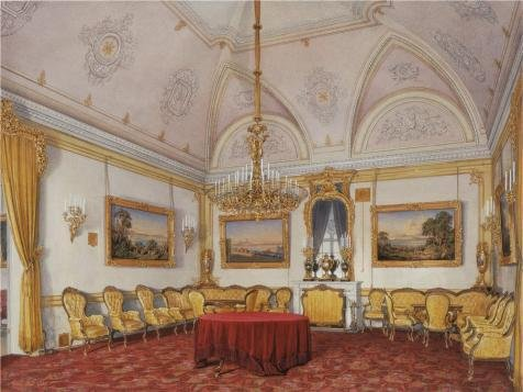 Oil Painting 'Hau Edward Petrovich,The Third Reserved Apartment,The Drawing Room,1807-1887' Printing On High Quality Polyster Canvas , 18x24 Inch / 46x61 Cm ,the Best Dining Room Decoration And Home Gallery Art And Gifts Is This Vivid Art Decorative Canvas Prints
