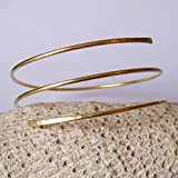 Gold Hammered Wrap Armband