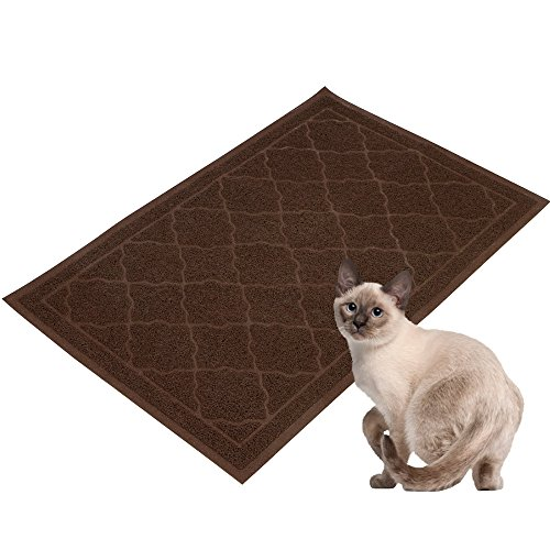 Easyology Premium Cat Litter Mat – XL Super Size – Best Extra Large Scatter Control Kitty Litter Mats for Cats Tracking Litter Out of Their Box – Soft to the Touch- Elegant for Your Home