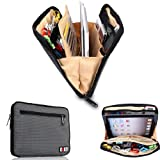 Damai Portable Universal Electronics Accessories Travel Organizer /Ipad Case / Cable Organizer Bag (Gray)