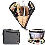 Bubm Portable Universal Electronics Accessories Travel Organizer /Ipad Case / Cable Organizer Bag (Gray)