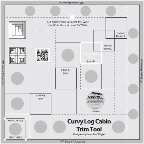 Creative Grids Non-Slip Curvy Log Cabin Trim Tool 8 in Finished Blocks