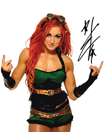 LYNCH BECLY WWE 10 x 8 Lab qualità Signed Photo-Print