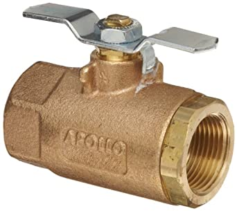 Apollo 70-100 Series Bronze Ball Valve, Two Piece, Inline, T-Handle, NPT Female