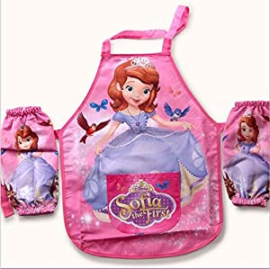 Kids Children Waterproof Cartoon Apron Printed Painting Cooking #Sofia by China