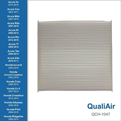 QualiAir QCH-1047, Cabin Air Filter for Honda, Acura
