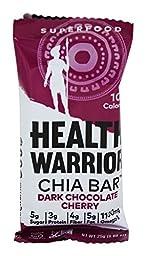 Health Warrior - Chia Bar Dark Chocolate Cherry - 0.88 oz pack of 3