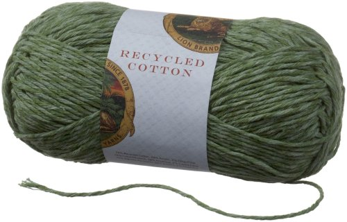 Lion Brand Yarn 482-130J Recycled Cotton Yarn,
