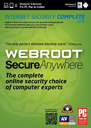 Webroot SecureAnywhere Complete 5 Device for Mac 2013 [Download]
