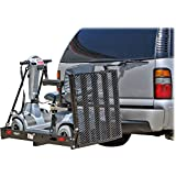 ALEKO® 500Lb Capacity Wheelchair and Power Scooter Folding Cargo Carrier Rack with the Foldable Ramp