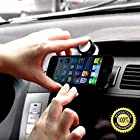 Smartphone Car Mobile Phone Holder - Ventaclip ® - For iPhone 4 4S 5 5C 5S & iPhone 6 - Android, Samsung Galaxy S3 S4 S5, Nokia Lumia 1020 925 928 920, BlackBerry Q10 Q5 Z30 Z10, Garmin eTrax - Strong & Very Lightweight - 100% Satisfaction Guarantee!