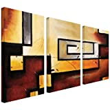 Art Wall Abstract Modern Gallery Wrapped Canvas Art by Jim Morana, 36 by 54-Inch