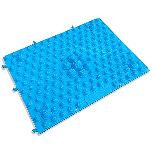 Pack of 2 Outdoor & Indoor Fresh Blue Color TPE Running Man Foot Massage Shiatsu Sheet Pressure Slab Toe Pad