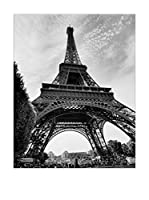 Artopweb Panel Decorativo La Tour Eiffel Paris Bordo Nero