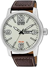 Comprar Citizen BM8470-03AE - Reloj analógico de cuarzo para hombre, correa de cuero color marrón