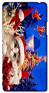 Timpax protective Armor Hard Bumper Back Case Cover. Multicolor printed on 3 Dimensional case with latest & finest graphic design art. Compatible with Sony L39H - Sony 39 Design No : TDZ-27786