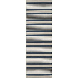 Safavieh Courtyard Collection CY6062-268 Navy and Beige Indoor/ Outdoor Runner, 2 feet 3 inches by 8 feet (2\'3\