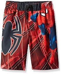 Marvel Boys\' Spiderman Trunk - Little Boy, Red/Black, 5/6