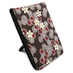 JAVOedge Cherry Blossom Flip Case with Stand Amazon Kindle Touch (Cocoa)