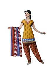 Siddhi Unstitched Cotton Printed Salwar Suit Dupatta Material ( AYSLW-100320141029AA )