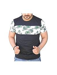 Black Collection Men's Round Neck Cotton T-Shirt