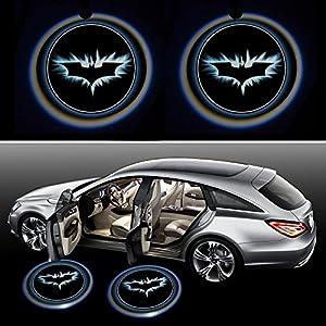 Generic BatDoorLight Black Wireless Car Door LED Projector Light (2x Night Cold Blue bat batman car door courtesy welcome logo shadow ghost light laser projector) at Gotham City Store