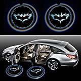Generic BatDoorLight Black Wireless Car Door LED Projector Light (2x Night Cold Blue bat batman car door courtesy welcome logo shadow ghost light laser projector)