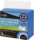 TDK LoR Blu-ray用 ファイルタイプ・ケース 12枚収納X3パック クリアブルー CASE-BDF12BL3A