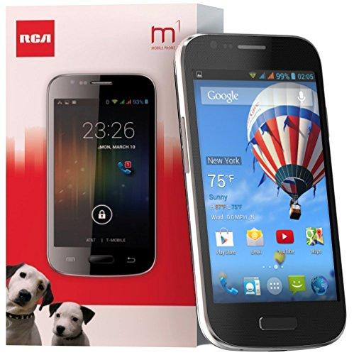 "Rca M1 4.0"" 3G Unlocked Dual Sim, 5Mp, Android 4.2 - Black"