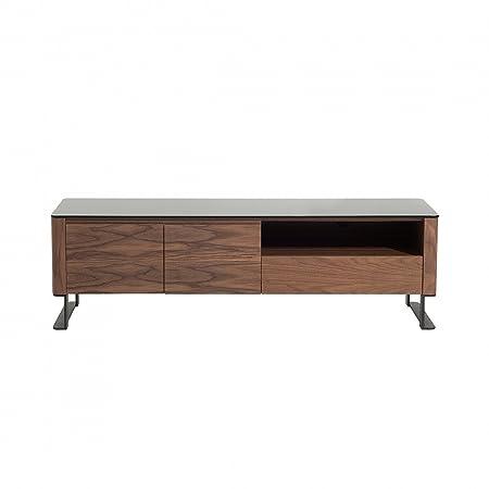 Meuble TV - meuble de rangement - couleur noyer - Elvas