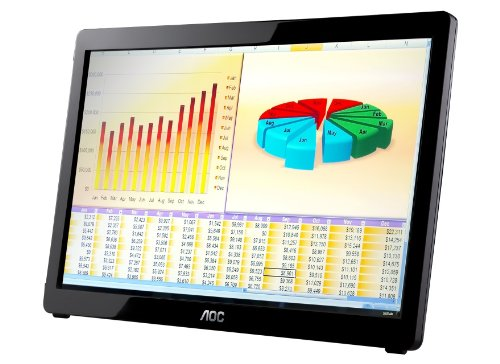 "Aoc E1649Fwu 16"" Usb-Powered Portable Led Monitor - Glossy Black front-586192"