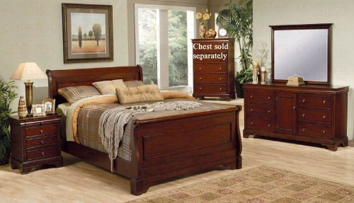 black friday 4pc queen size sleigh bedroom set louis