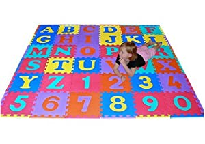 We Sell Mats 36 Sq Ft Alphabet and Number Floor Mat from We Sell Mats