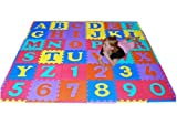We Sell Mats 36 Sq Ft Alphabet and Number Floor Mat