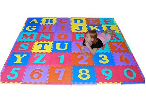 Read About We Sell Mats 36 Sq Ft Alphabet and Number Floor Mat